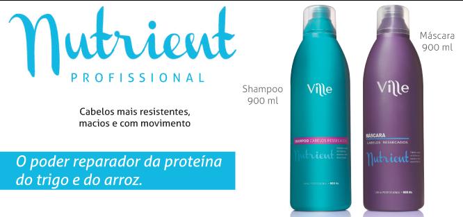 linha nutrient tratamento pós química ville cosméticos